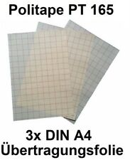 (5,20€/m²)Transferfolie / Übertragungsfolie Poli-Tape PT165 3xDIN A4 (21x30.5cm)