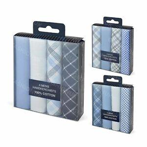 8 Pack Mens Gents Handkerchiefs 100% Cotton Hankies Hankys 40x40cm Boxed Gift