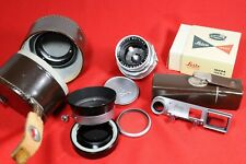 Leica Summicron 50mm f/2 Dual Range, Type 2 with eyes, for M, cases, much more