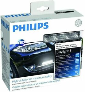 Philips Car BMW Toyota 12831WLEDX1 DRL 9 LED Daytime Running Lights -NEW in BOX