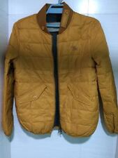 $795 Burberry Brit Down-Filled Quilted Bomber Yellow Jacket Medium