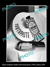 OLD LARGE HISTORIC PHOTO OF IPANA TOOTHPASTE ADVERTISING PHOTO c1930s SYDNEY
