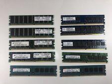 Lot OF 10 MEMORY RAM Sticks 1GB 2GB 512 Crucial Tested Various Speeds Brands