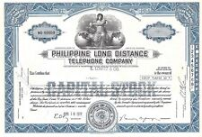 Philippine Long Distance Telephone Company.1972 Common Stock Certificate