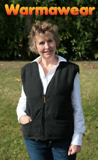 Ladies' Battery Heated Thermal Winter Jacket Waistcoat Body Warmer Warmawear Small/medium