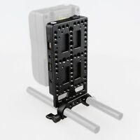 CAMVATE V-Lock Battery Mount Cheese Plate Power Supply Splitter 15mm Rod Clamp