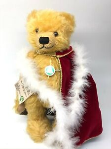 """Hermann 13"""" Advent's  Mohair Bear  With Advent Candles 10 of 50"""