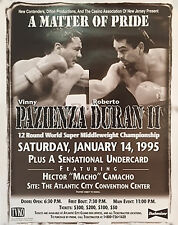 Original Vintage Vinny Paz vs. Roberto Duran II Boxing Fight Poster Fight Poster