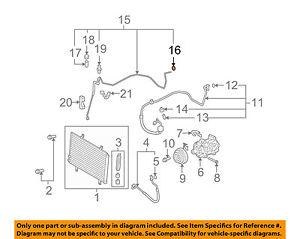 TOYOTA OEM A/C AC Condenser/Compressor/Line-Liquid Line Seal 9006908011