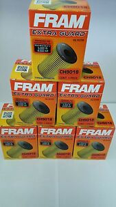 Lot of 6  Extra Guard Fram Oil Filters CH9018 with O rings