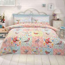 Hey Birdie Einzelbettbezug Set Kinder Bettwäsche Blumen Druck Polybaumwolle Neu