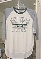 New York Jets 3/4 Long Sleeve Women's L Hi Lo NFL Team Apparel NEW