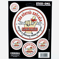Original Busted Knucke Garage Logo Hot Rod USA Aufkleber Sticker Decal 5 Stück