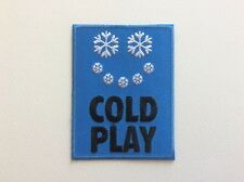M094 // ECUSSON PATCH AUFNAHER TOPPA / NEUF / COLDPLAY FLOCON NEIGE 6*8 CM