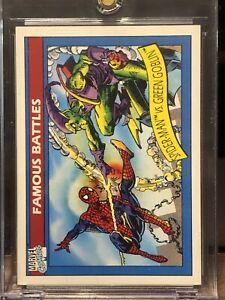 1990 Spider-Man Vs Green Goblin Marvel Universe Series 1 Card #111
