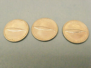 Lot of 3 Canada Canadian  1967 dime 10 cents coin
