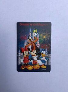 Miniature Vintage Disneyland Playing Swap Card Disney Mickey Minnie Mouse Goofy