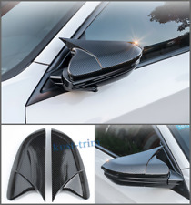 FIT For Honda Civic 2016-2018 ABS Carbon fiber style side mirror cover trim 2PCS