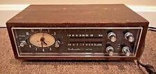 Vintage Ambassador AM FM Transistor Alarm Clock Radio Telechron Movement TCAF-40
