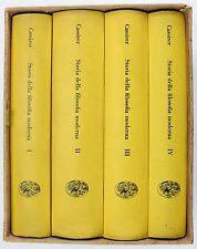 Cassirer Storia della FILOSOFIA Moderna 4 Volumi Ed. Einaudi 1964 con cofanetto