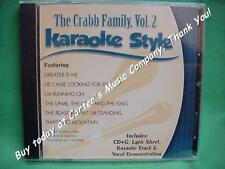 The Crabb Family #2 ~Christian Daywind Karaoke Style ~ That's No Mountain ~ CD+G
