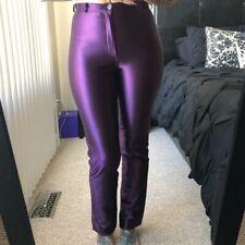 VINTAGE JOU JOU Spandex Disco Pants Shiny Jeans Purple Size 9/10 Beautiful RARE