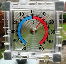 CLEAR WINDOW THERMOMETER HOME CONSERVATORY GREENHOUSE GARDEN INDOOR OUTDOOR