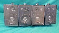 Set of 4 KLH Audio Systems 979B Black Bookshelf Speakers 8 Ohms