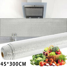 Kitchen Waterproof Oil-proof Wall Stickers Aluminum Foil Self Adhesive 45*300cm
