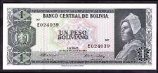 Bolivia. One Boliviano,  E 024039, 13-7-1962, Good Extremely Fine.