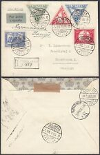 Latvia 1935 - Registered Airmail Cover to Denmark..........  (8G-32129) MV-5540
