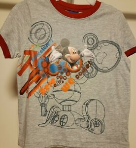 MICKEY MOUSE Toddler Boys Shirt Top Tee 4T NEW DISNEY