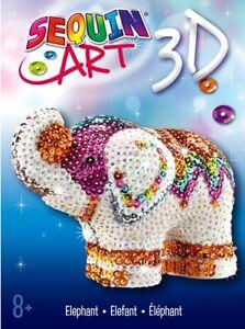 Sequin Art 3D Elephant Craft Kit 1121 - Creative DIY Crafts for Kids & Adults