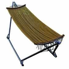 E-Z Cozy Folding Hammock, 1 Person, Brown