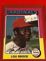 🔥 1975 Topps Baseball Card Set #540 🔥 St. Louis Cardinals 🔥 LOU BROCK