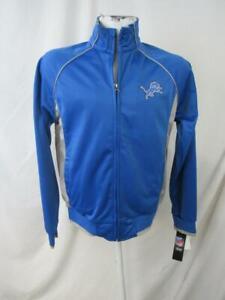 Detroit Lions Womens Medium Blue w/ Gray Track Jacket ALIO 113