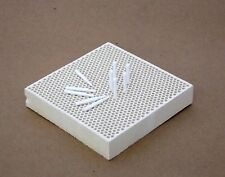 Honeycomb Ceramic Soldering Block 4 by 4 Inch With Pins