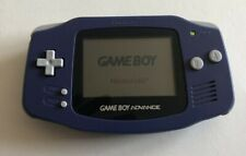 Nintendo Gameboy Advance Indigo Missing Battery Cover- Gamecube Link Cable Inclu