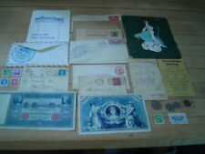 New listing Vintage Stamps, Foreign Coins , Currency, Ephemera Box Lot