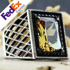 Alexandrite Change Color Stone 925 Sterling Silver Turkish Men's Ring All Sizes