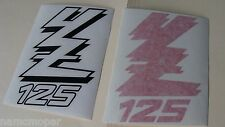 NEW! YAMAHA YZ 125 motorcycle tank decals Red Black LH / RH graphics