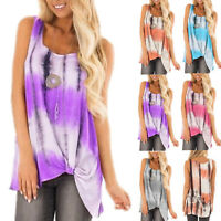 PLUS SIZE Womens Sleeveless Vest Top Blouse Casual Tank Top Loose Summer T Shirt