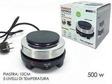 FORNELLO ELETTRICO 1 PIASTRA POTENZA 500 WATT CAMPEGGIO VIAGGIO CON TERMOSTATO