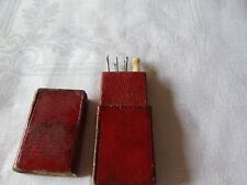 Antique cased sewing crotchet set