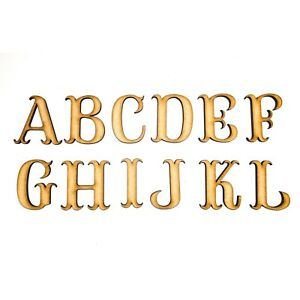 Wooden Letters Small Large 2cm-20cm MDF Wooden Craft Letters Alphabet Scrapbook