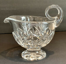 Beautiful Vintage cut Crystal Footed Gravy Boat with Handle