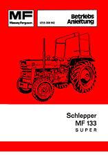 Bedienungsanleitung Massey Ferguson Traktor MF133 Super MF 133 Super