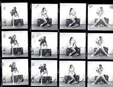 Jeanine Semi Nude on Telephone HENDRICKSON Negatives & Photo Contact Sheet #943