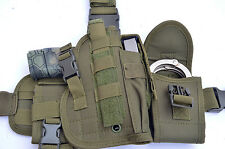 Tactical Drop Leg Thigh Gun Pistol Holster Color Glock Sig H&K S&W (OD Green)