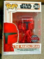 Red Chrome Metallic The Mandalorian Funko Pop Vinyl New in Box